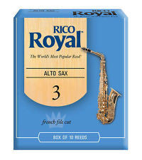 Rico Royal 3 alto sax reeds (Box of 10)