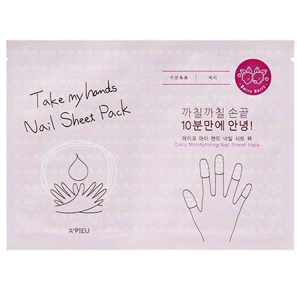 A'PIEU Nail Treatment berry-nail sheet A'PIEU Take My Hands Nail Sheet Pack - KollectionK