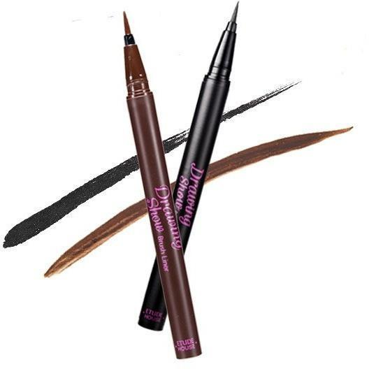 ETUDE HOUSE Eyeliner BK801 - Black ETUDE Drawing Show Brush Eyeliner - KollectionK
