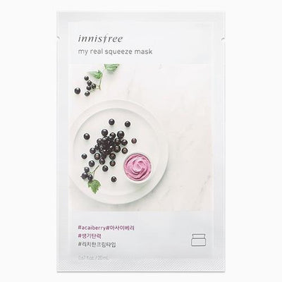 innisfree Sheet Mask ACAI BERRY INNISFREE IT'S REAL SQUEEZE MASK - KollectionK