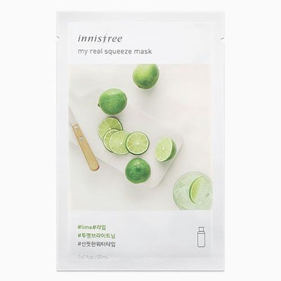 innisfree Sheet Mask LIME INNISFREE IT'S REAL SQUEEZE MASK - KollectionK