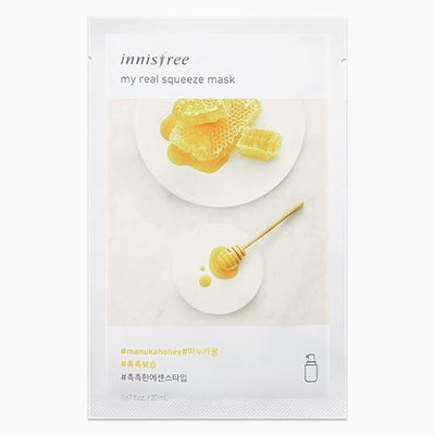 innisfree Sheet Mask MANUKA HONEY INNISFREE IT'S REAL SQUEEZE MASK - KollectionK