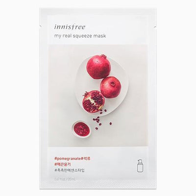 innisfree Sheet Mask POMEGRANATE INNISFREE IT'S REAL SQUEEZE MASK - KollectionK