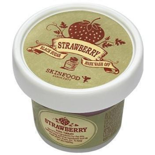 SKIN FOOD Face Mask strawberry SKINFOOD Black Sugar Strawberry Mask Wash Off - KollectionK