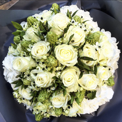 White Elegant Hand-Tied Bouquet