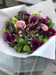 142.12 Valentine's Purple Passion Bouquet