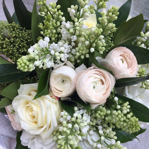 White Radiance Hand-Tied Bouquet