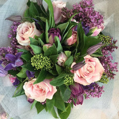 Pastels & Purple Hand-Tied Bouquet
