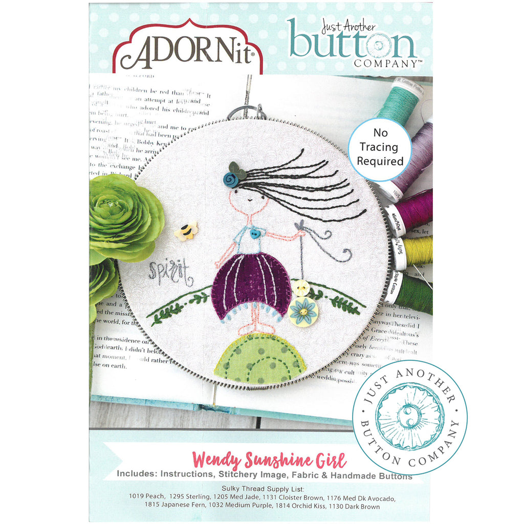 Embroidery Kit - Wendy
