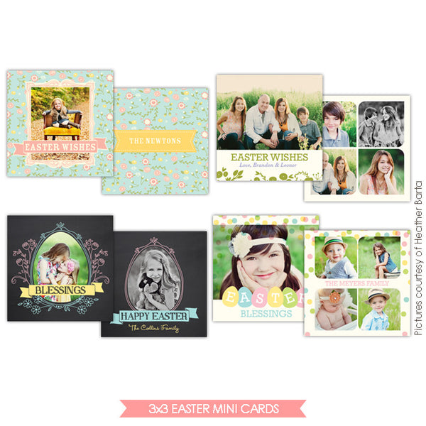 3x3 Easter Mini card templates | Easter moments minis
