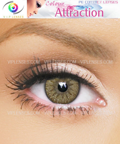 Color Attraction Absolute Gold Contact Lenses