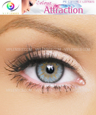 Color Attraction Light Sapphire Contact Lenses