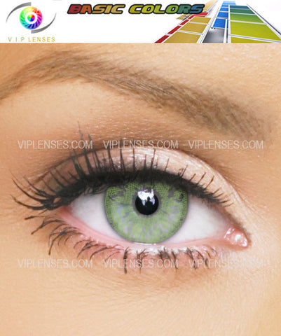 Basic Color Green Contact Lenses