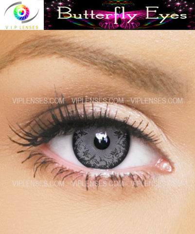 Butterfly Eyes Grey Contact Lenses