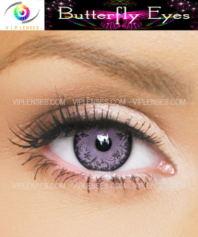 Butterfly Eyes Violet Contact Lenses