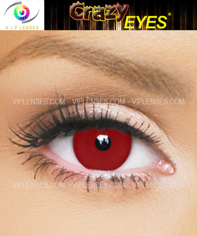 Crazy Blood Red Contact Lenses