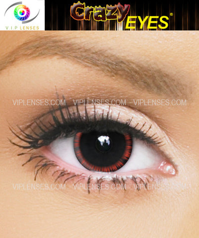 Crazy Halo Red Contact Lenses