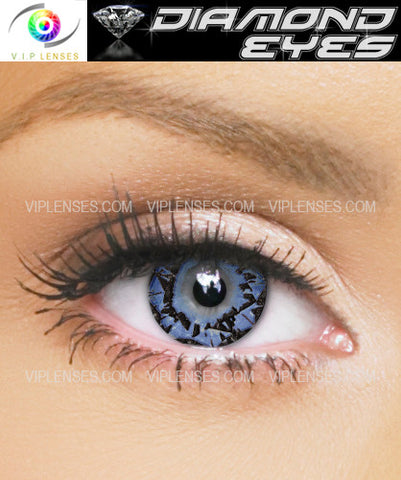 Diamond Eyes Sapphire Contact Lenses