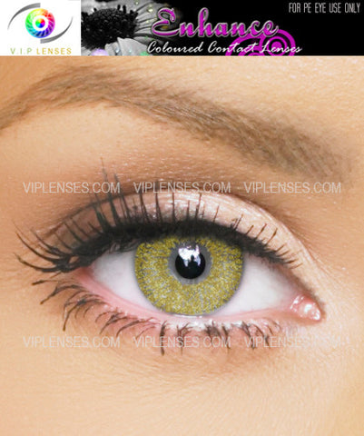 Enhance Gold Fleck Contact Lenses