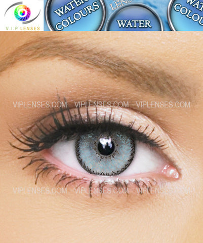 Water Colours Blue Contact Lenses