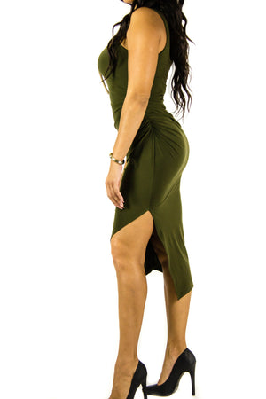 Olive Dress, Dress - Style Dirty