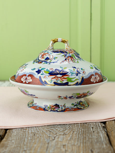 Antique Spode New Stone Imari Covered Server