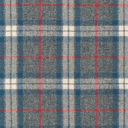 Mammoth Flannel in Smoke Blue Plaid