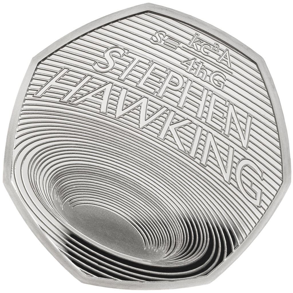 2019 Silver Proof Stephen Hawking 50p Royal Mint BOX + COA