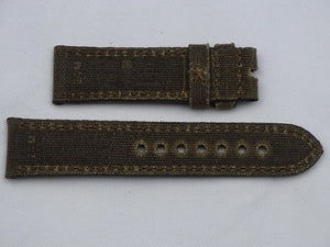 Canvas Strap vintage brown with brown stitching