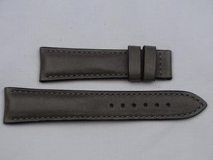 Leather Strap dark grey with grey stitching