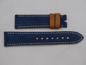 Canvas Strap vintage blue with gray stitching