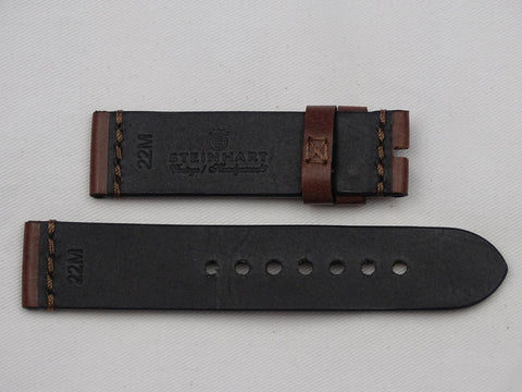 Leather Strap brown with brown stitching