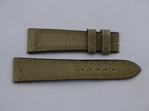 Canvas Strap vintage green/nature with green stitching