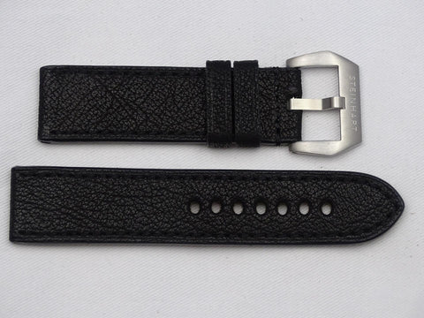 Leather Strap dark brown with dark brown stitching