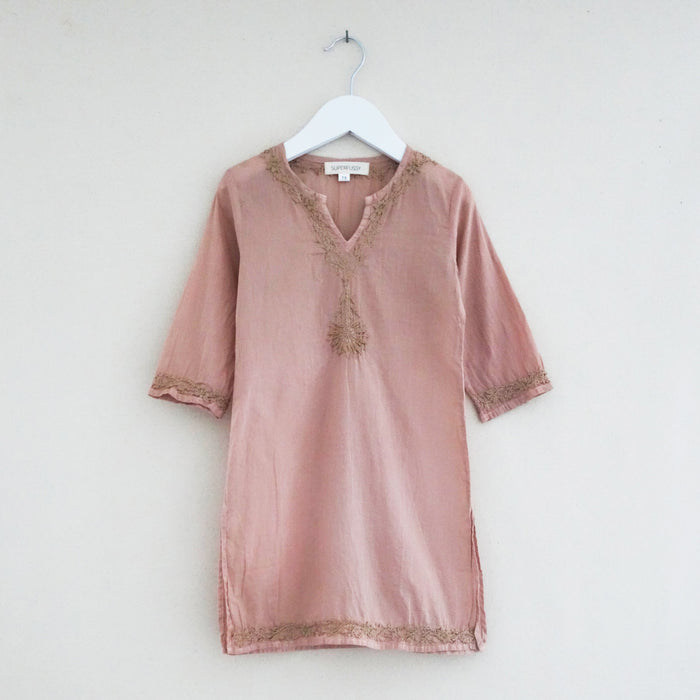 Chikan Tunic Blush
