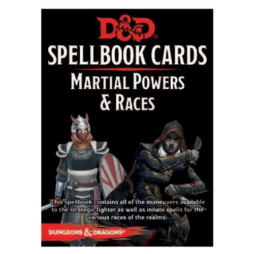 DUNGEONS & DRAGONS - 5th ED RPG - Spellbook Cards - Martial Powers & Race Deck