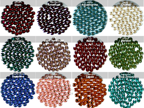 Birthstone Colours Swarovski Elements Crystals - From January to December