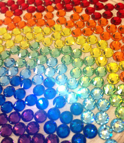 Rainbow Colours Swarovski Elements Crystals - Lt Siam, Sun or Fire Opal, Citrine, Peridot, Aquamarine, Capri Blue, Amethyst