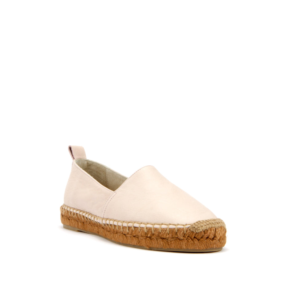 Espadrille in Rose Napa