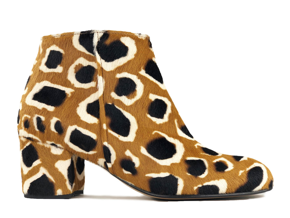 Ana Ankle Boot Animal Print Giraffe