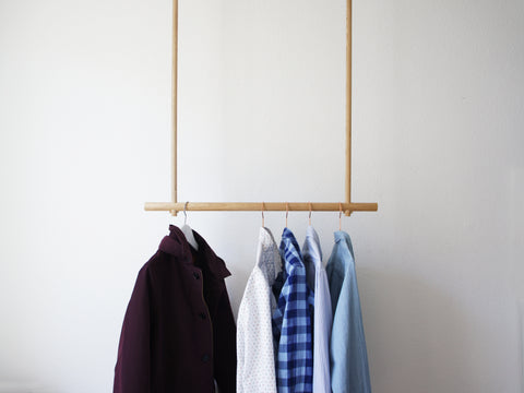 Oak Wood Clothes Hanger Wardrobe Hänger Garderobe Eiche Design Holz