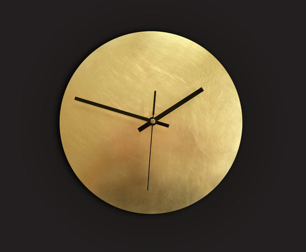 Brass Wall Clock Messing Wanduhr Calvill