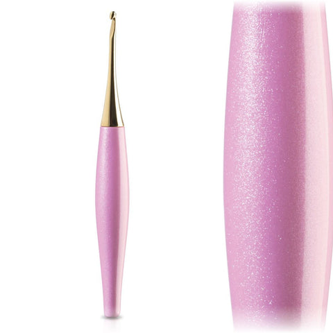 Odyssey Pink + 14K Gold Ergonomic Crochet Hook