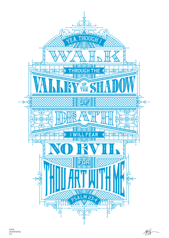 Inspirational quotes: Psalm 23 typography poster 3