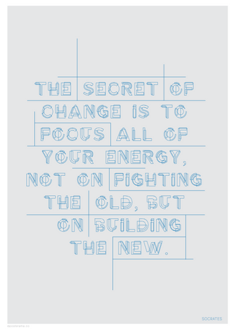 Inspirational Quote 'The secret to change is... Socrates' poster