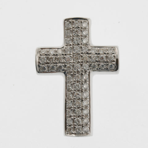 Diamond cross floating pendant