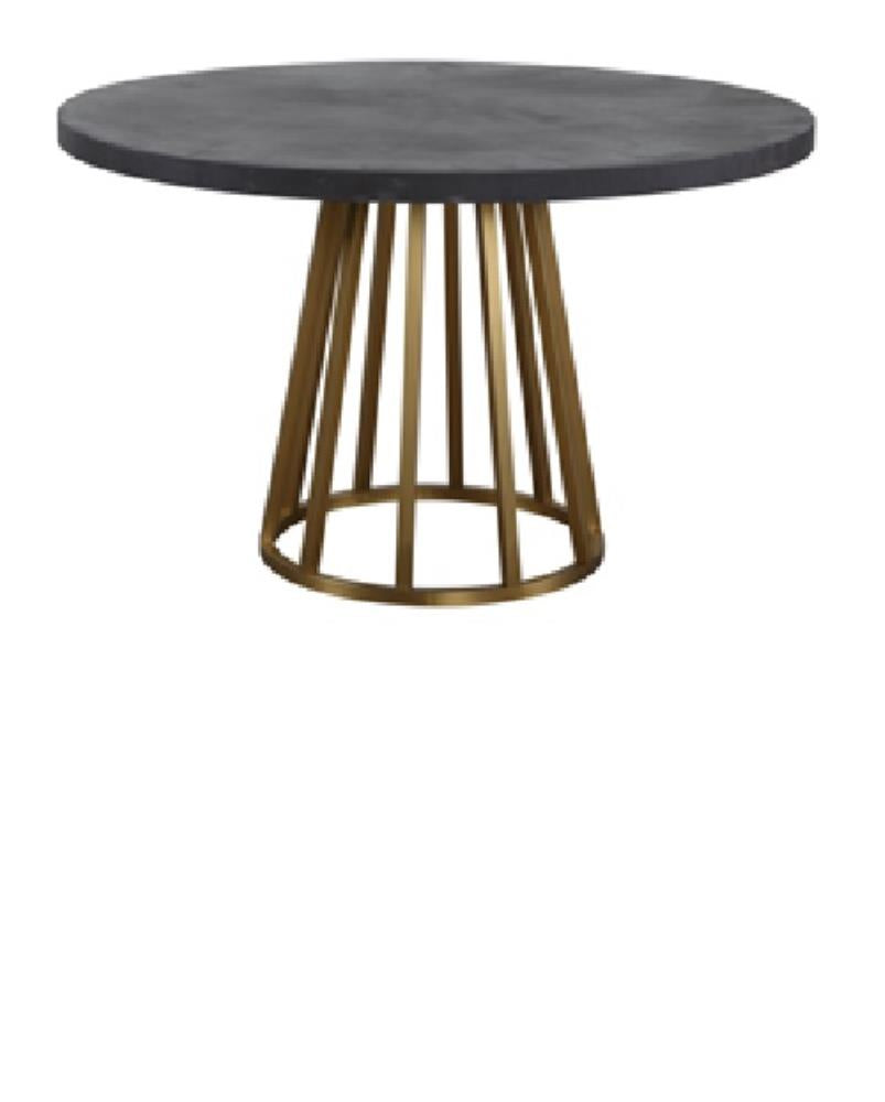 SS warm gold Base Concrete Round table