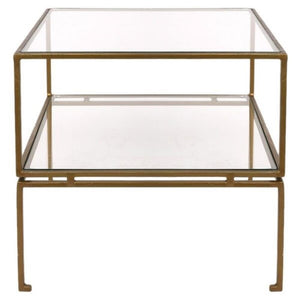 Chicago Square Gold Side Table