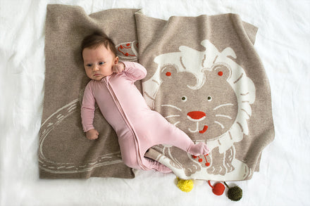 New Addition Liam the Lion to the Cashmere Baby Blanket Collection!