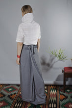 Load image into Gallery viewer, Womens Skirt, High Waist Skirt, Plus Size Clothing, Gray Skirt, Maxi Skirt, Long Skirt, Japanese Clothing, Loose Skirt, Wool Skirt, Winter